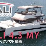 カタマランボートBALI 4.3 MY 空撮